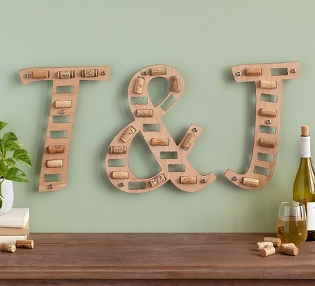 Wine cork letters, best wine gifts