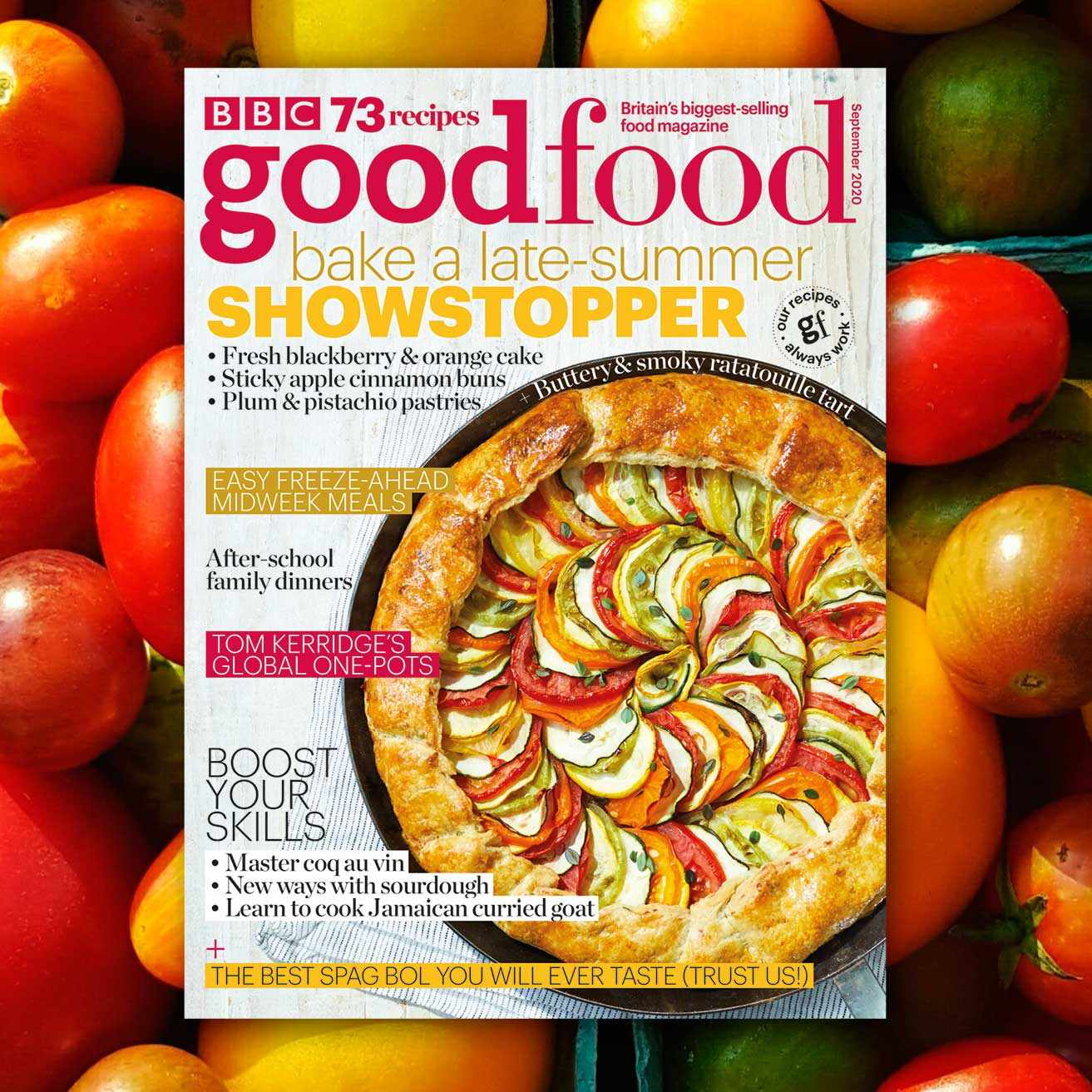 Good Food September cover on tomato image