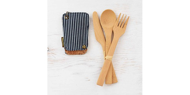 Bamboo Travel Utensil Set, best sustainable gifts