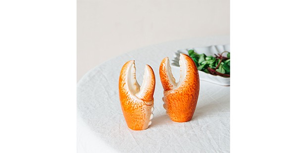 CRAB SALT AND PEPPER SHAKERS, Graham and Green - web only