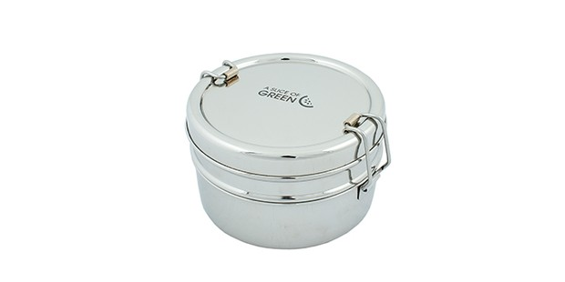 Chapra two tiered stainless steel lunch box, Chapra