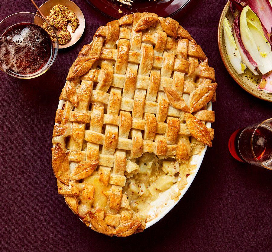 Apple, cheese & potato pie