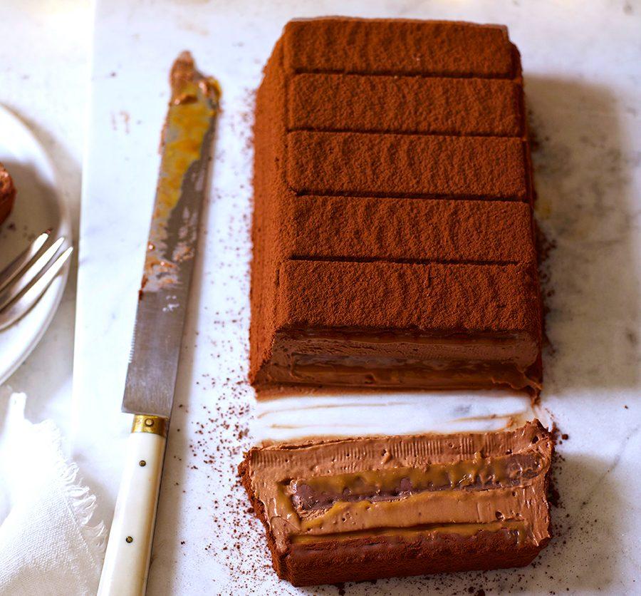 Chocolate caramel terrine