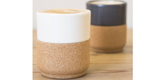 Eco cork and ceramic mugs, NOTHS