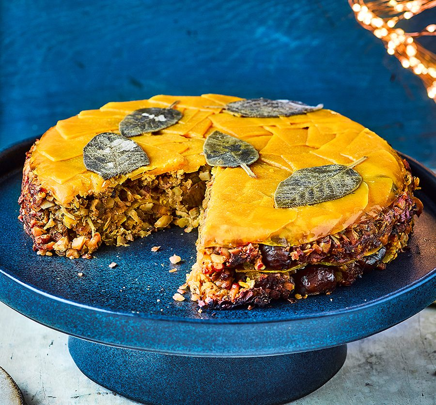 Honeyed squash & nut roast cake
