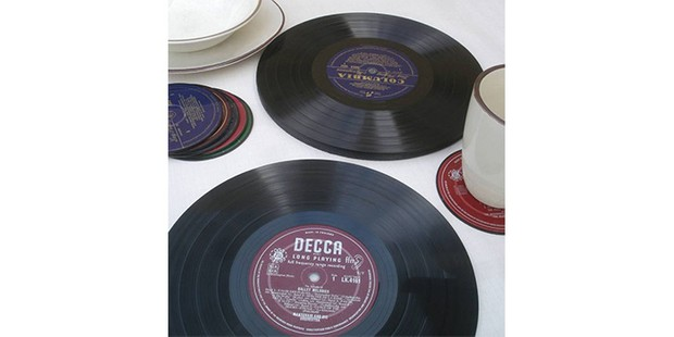 LP Vinyl Placemats, sustainable gifts