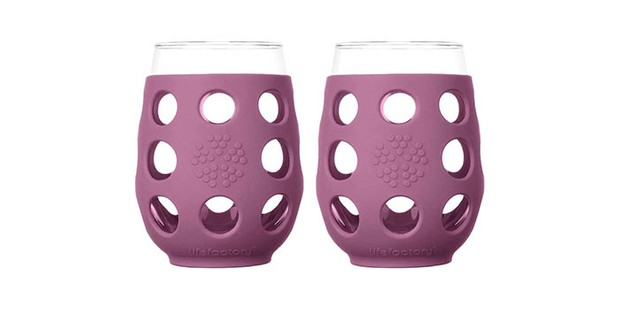 Lifeactory glass and silicone wine glass, best sustainable gifts