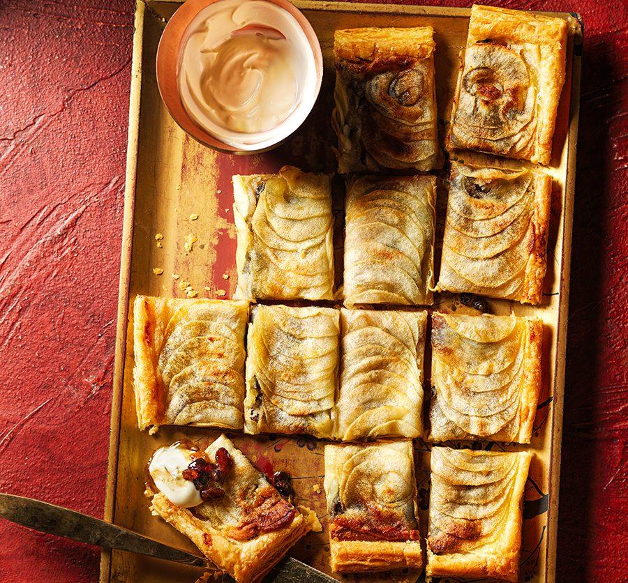 Mincemeat, marzipan & apple tarte fine