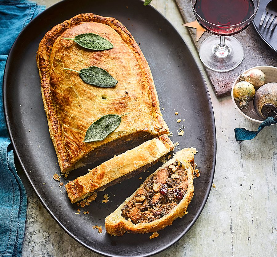 Mushroom & sweet potato wellington