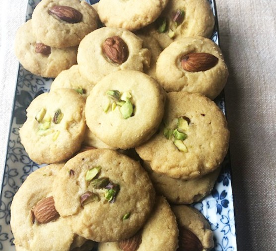A collection of cardamom biscuits (nan khatai)