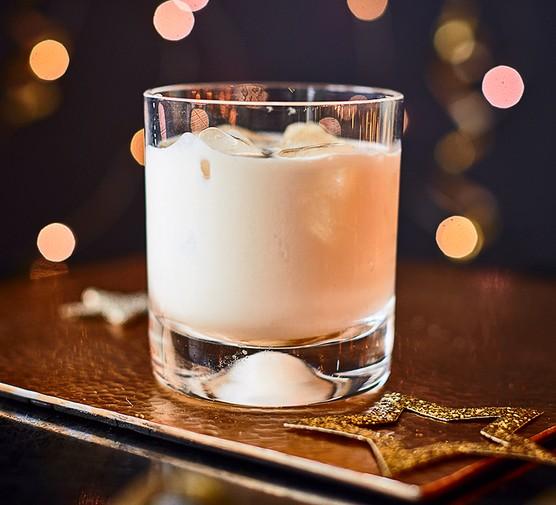 A glass of booze-free Irish cream liqueur