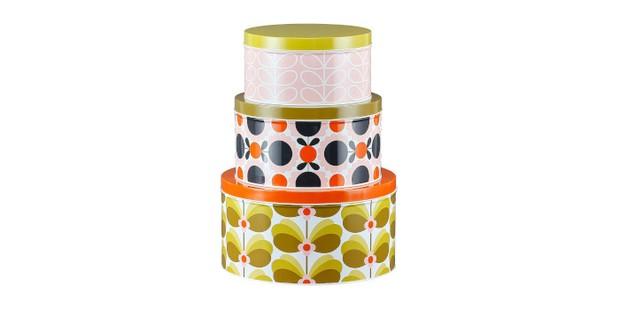 Orla Kiely OK692 Cake Tins, best decorative cake tins and storage boxes