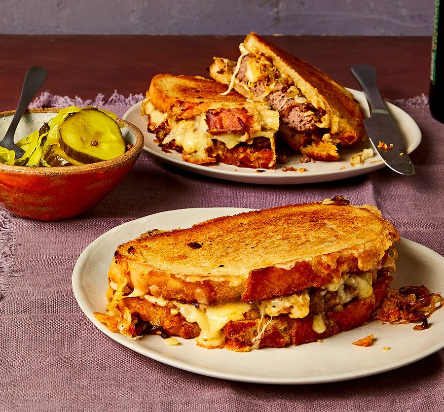Patty melt toasties