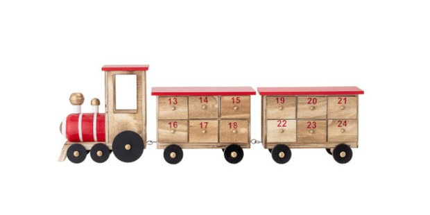 Paulownia wooden advent calendar train, best kids advent calendars
