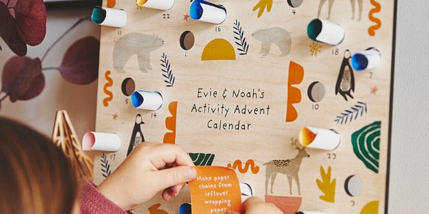 Personalised kids advent calendar, best kids advent calendar