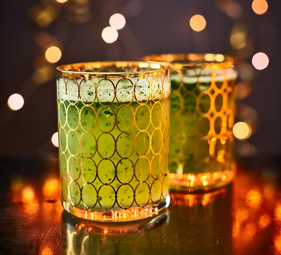 Pineapple & ginger punch in glasses
