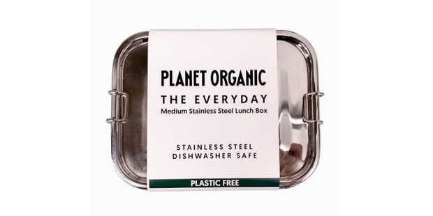 Planet Organic stainless steel lunch box, sustainable gifts