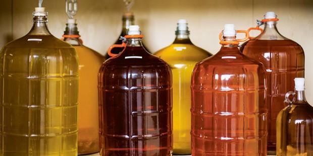 Cider in bottles