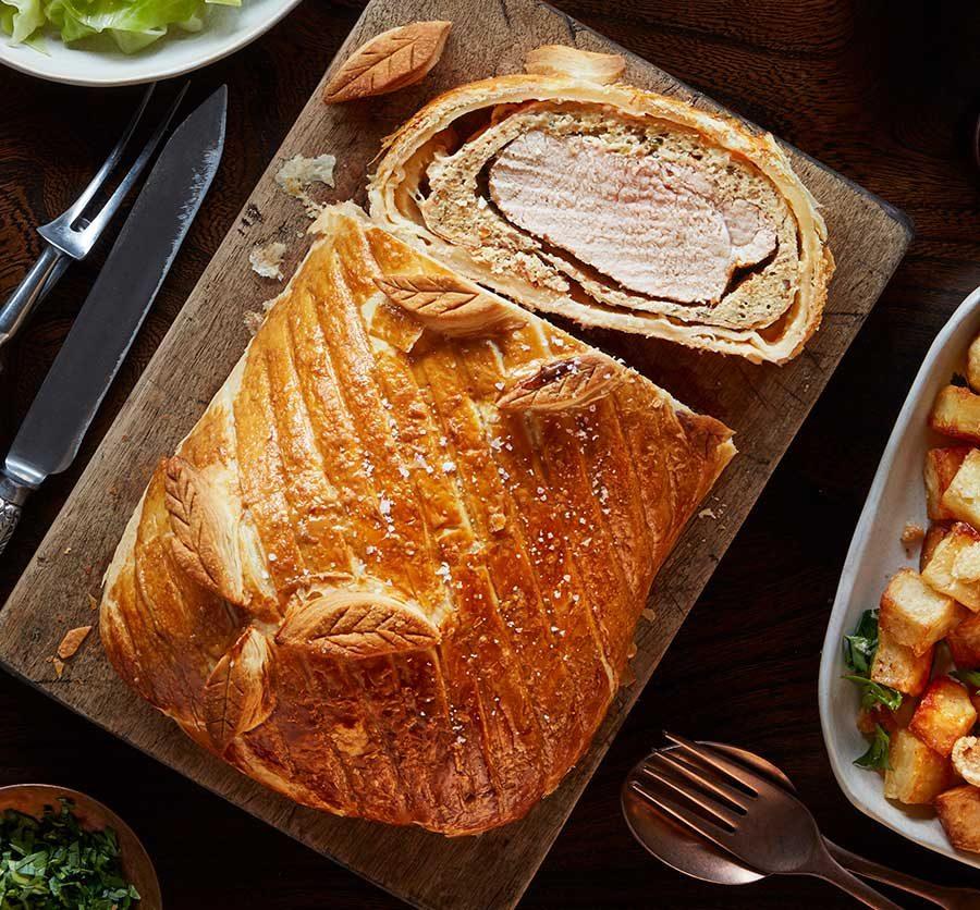 Pork & chestnut wellington