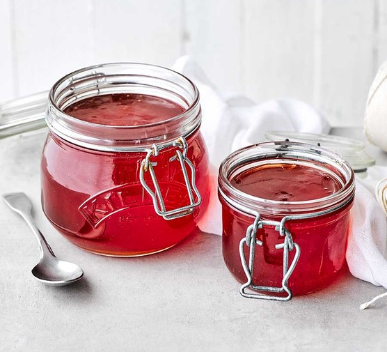 Two jars of quince jelly