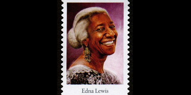 Edna Lewis as pictured on a stamp
