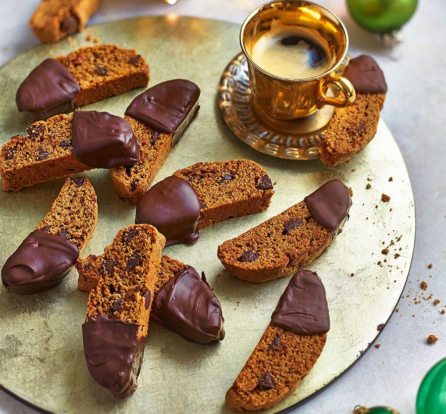 Espresso & dark chocolate biscotti