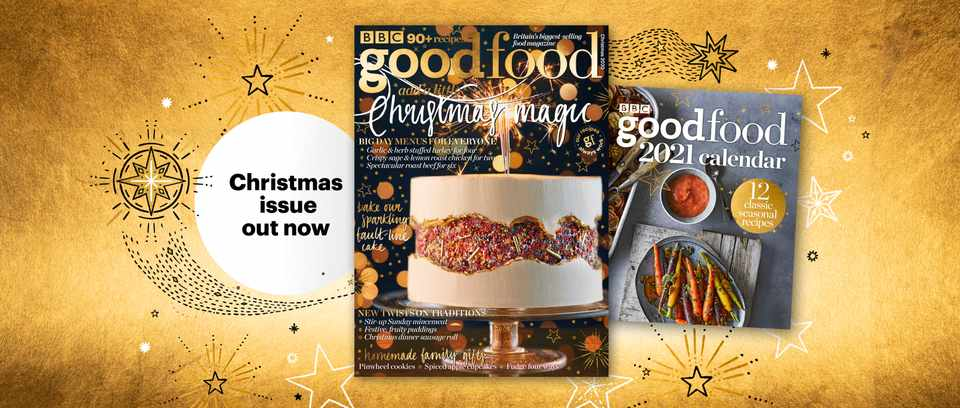 BBC Good Food Christmas magazine promotional image