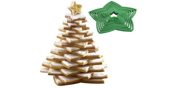 Lakeland 3D Christmas tree 10-piece cookie cutter set