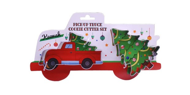 Large Truck with Christmas Tree Cookie Cutter Set