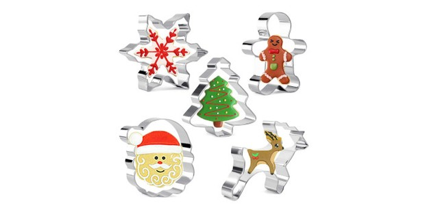 Olywee 5-piece Christmas cookie cutter set