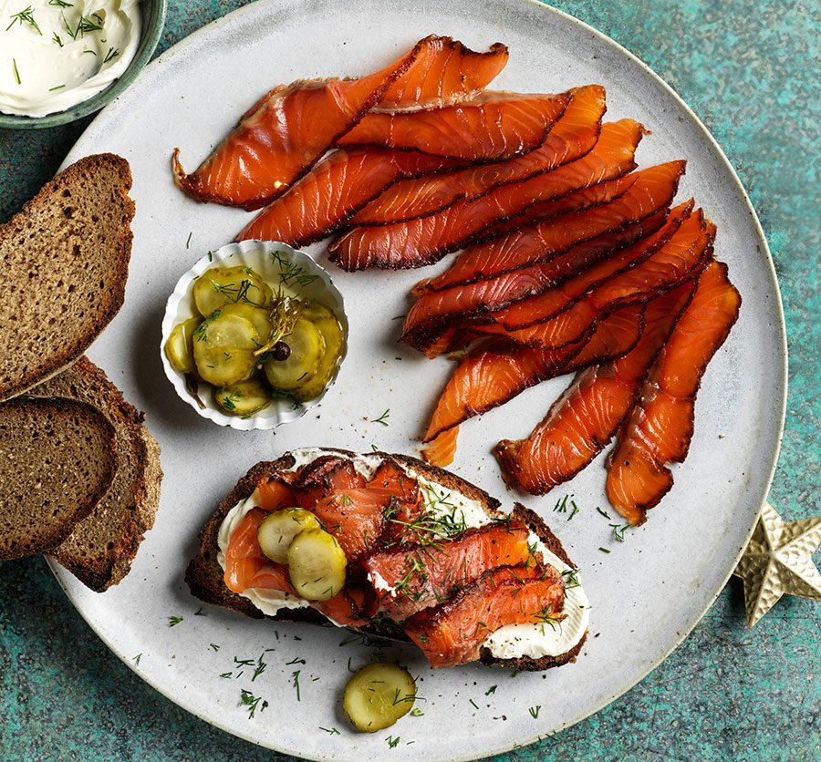 Pastrami-cured salmon