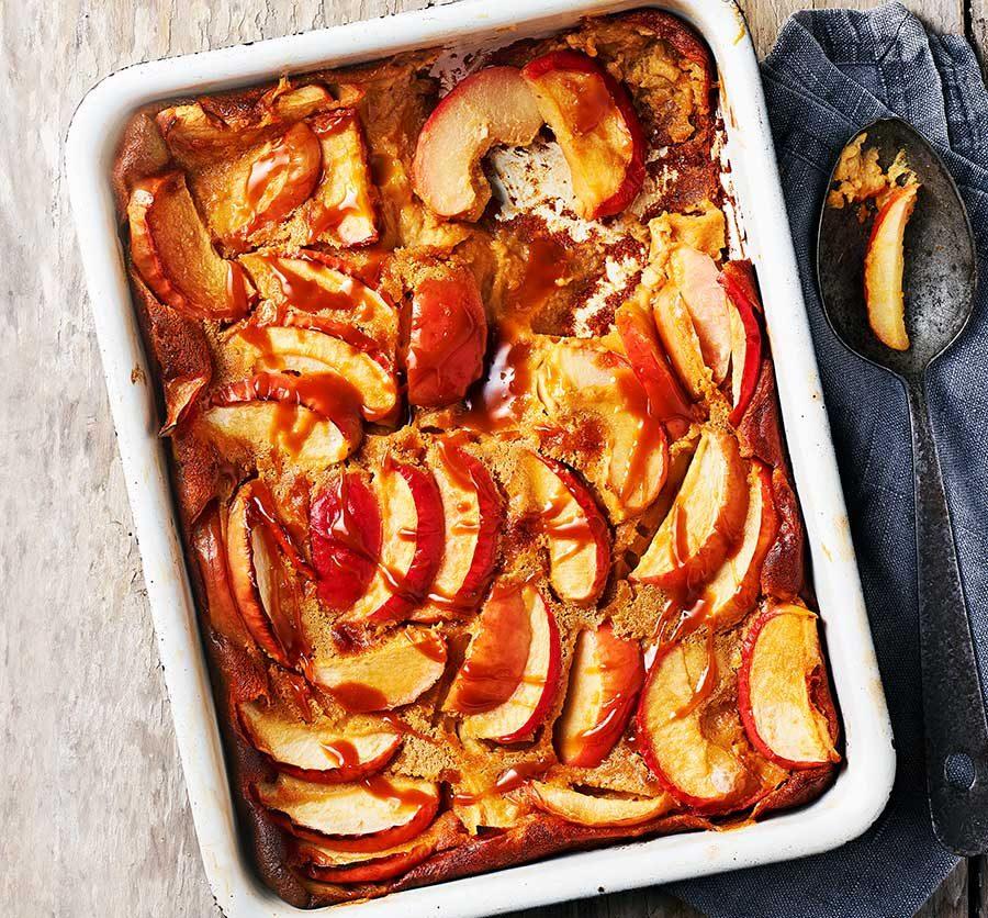Salted caramel & apple pudding