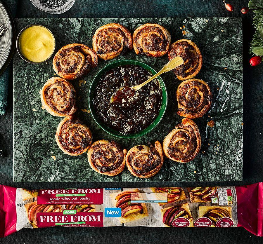 Gluten-free sausage roll wreath