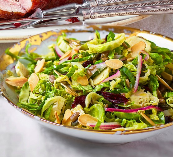 Zesty and crunchy sprout slaw in a bowl