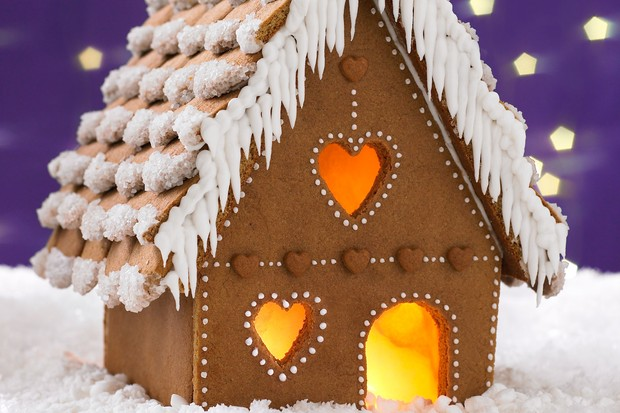 Gingerbread house with decoration