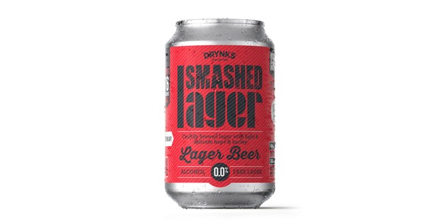 Smashed Lager in a can