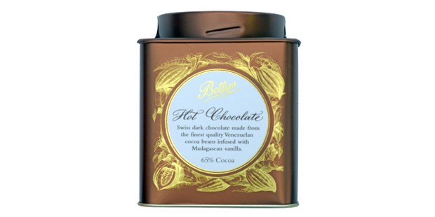 Bettys hot chocolate in a tin caddy