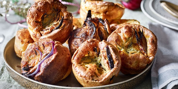 Sage and onion Yorkshire puddings in bowl