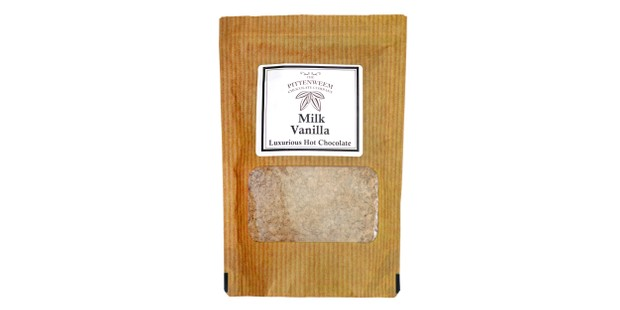Pittenweem chocolate company hot chocolate in a brown packet