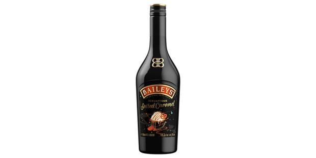 Baileys salted caramel liqueur in a bottle