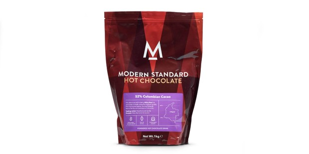 Modern Standard hot chocolate in a red pouch