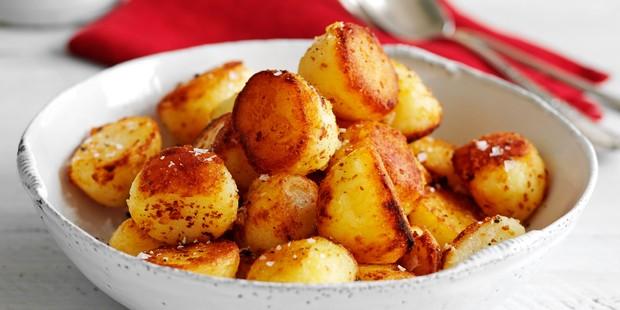 Roast potatoes in bowl