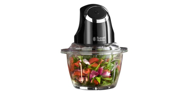 Russell Hobbs mini chopper with ingredients
