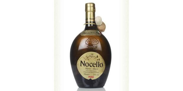 Toschi Nocello liqueur in a bottle