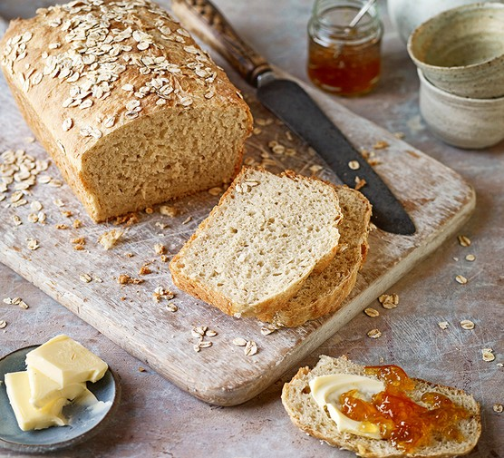 Porridge bread served on a chopping board