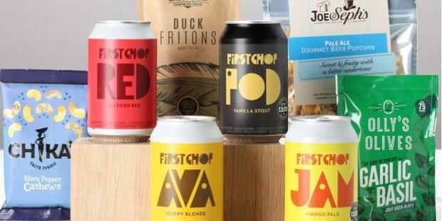 Borough Box gluten-free beer and snack gift box