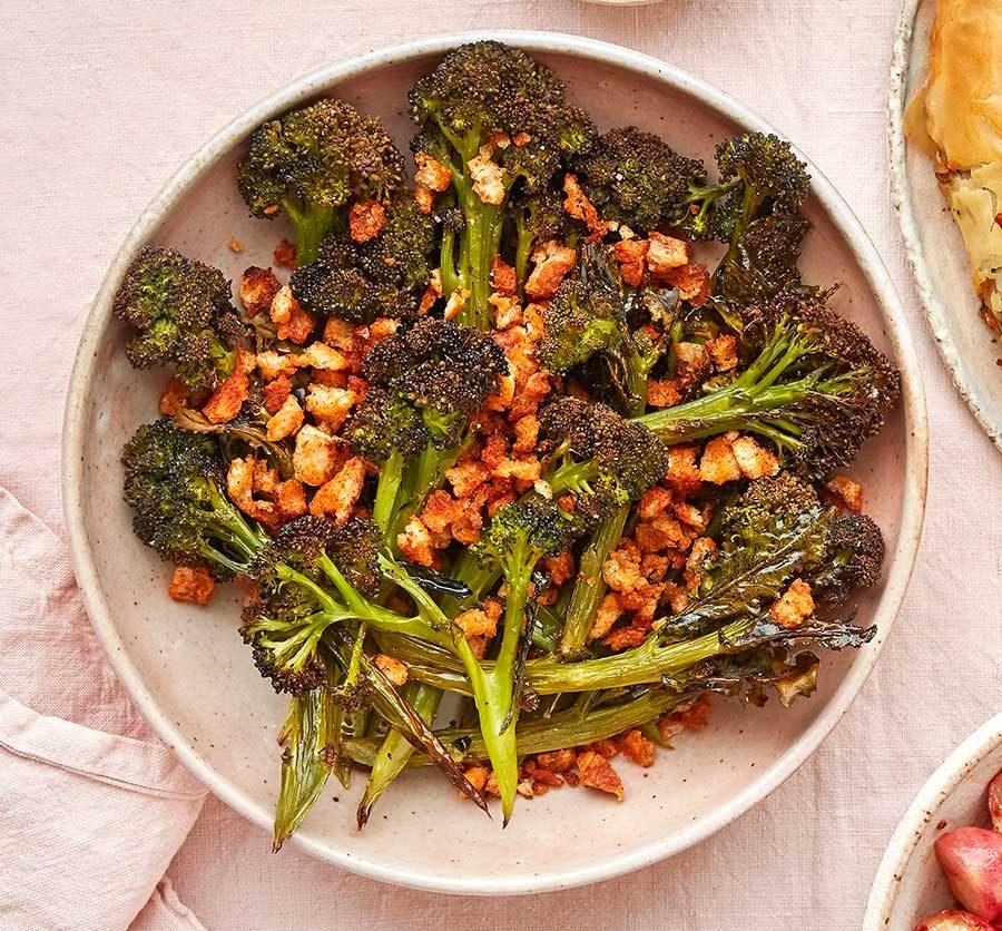 Cumin-roasted broccoli with preserved lemon yogurt