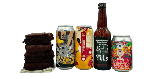 Hoppily Gluten Free gift box beer and brownies box