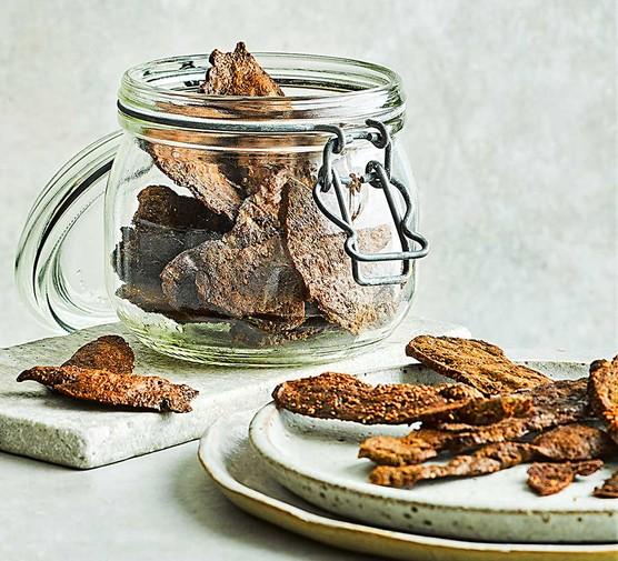 Vegan jerky in a jar