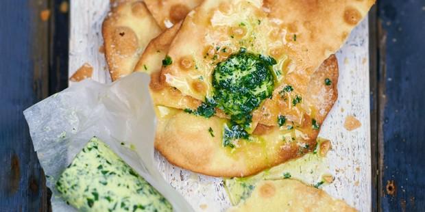 Wild garlic butter on bread